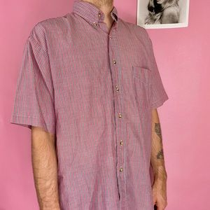 90's Paper Thin Striped Basic Editions Button Down